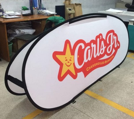 Personalized advertising horizontal pop up banner for promotion