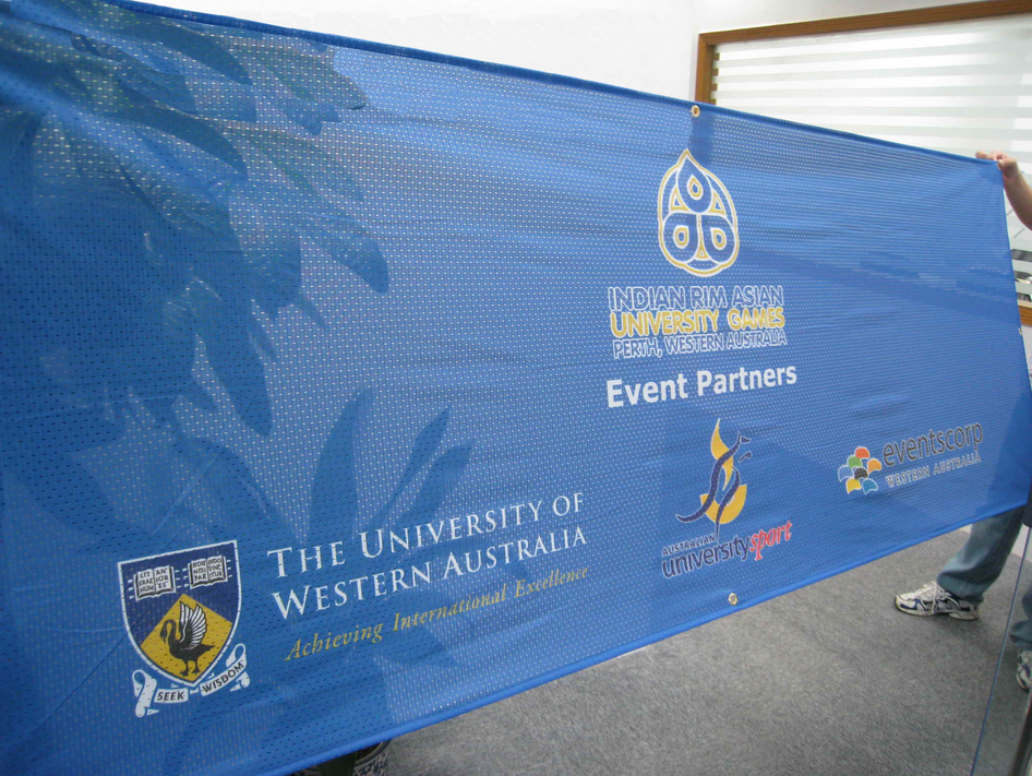 Colour Printed Advertising Mesh Banner For Business