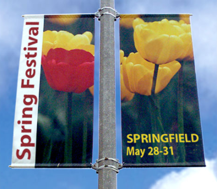 Outdoor Custom Banners City Street Pole Banners