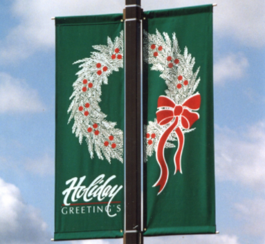 Best Selling Custom Holiday Street Banners Manufacturer