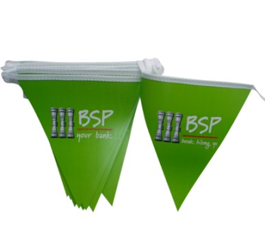 Custom Advertising Bunting Flag Paper Triangle Flags