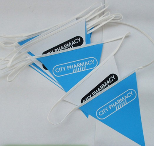 Advertising String Flags Printed Paper Bunting Flags