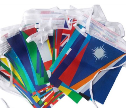 Bulk Wholesale Country Bunting National String Flag