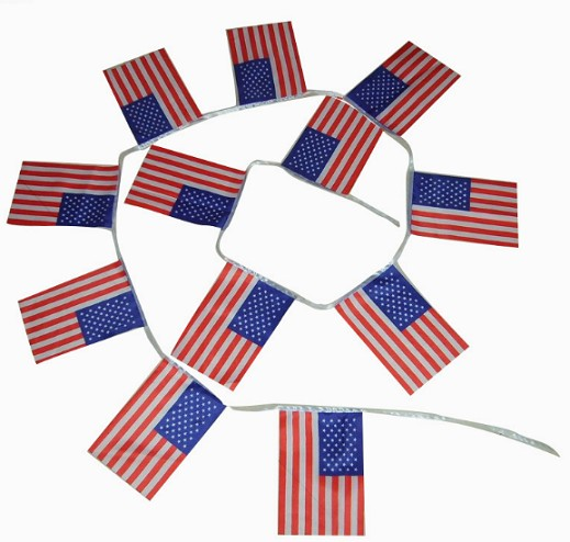 Hot Selling Mini American Flag USA String Flags