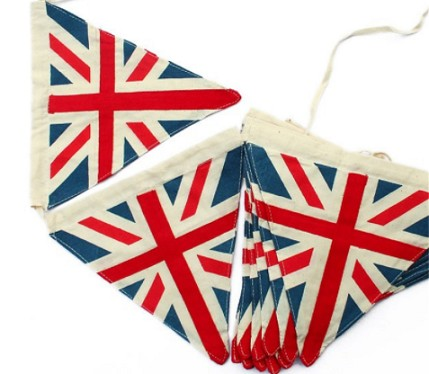 Cotton Great Britain Bunting Flag UK String Flags
